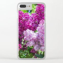 Fragrant lilac bush. Clear iPhone Case