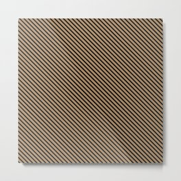 Iced Coffee and Black Stripe Metal Print