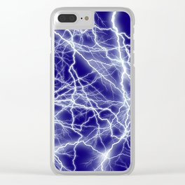 Electrical Lightning Sparks Clear iPhone Case