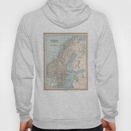 Vintage Map of Norway and Sweden (1893) Hoody