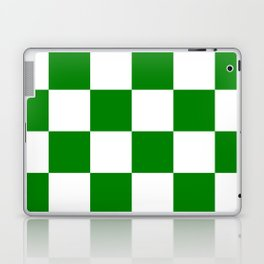 Large Checkered - White and Green Laptop & iPad Skin