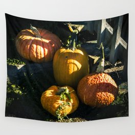 Pumpkins in Shadows Wall Tapestry