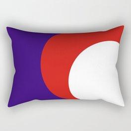 Cercle bleu orange Rectangular Pillow