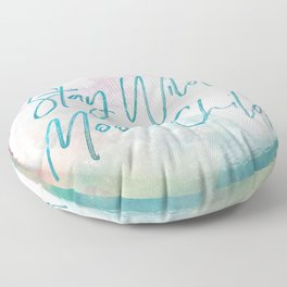 Stay Wild Moon Child Floor Pillow