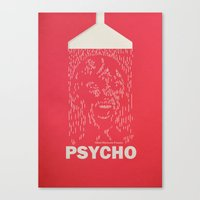 psycho Canvas Prints featuring Psycho by Comicord