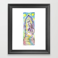 Princess in night colorful Framed Art Print