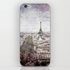 la tour eiffel {liberté iPhone & iPod Skin