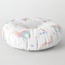 Colorful Alpaca Floor Pillow