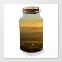 Bottled balloon Canvas Print
