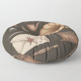 A Sophisticated Assemblage Floor Pillow