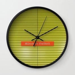 Munich U-Bahn Memories - Münchner Freiheit Wall Clock
