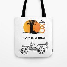 I AM INSPIRED JEEP CJ Tote Bag