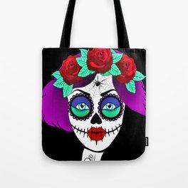 Elly Skelly - sugar skull Tote Bag