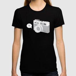 Yashica Camera - blue bird T-shirt