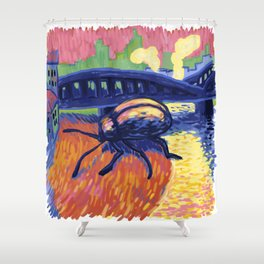 Giant Beetle - Fauve Shower Curtain