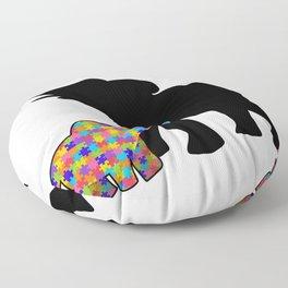 Elephant Autism Awareness Support Floor Pillow