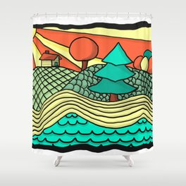 British Columbia in a Nutshell Shower Curtain