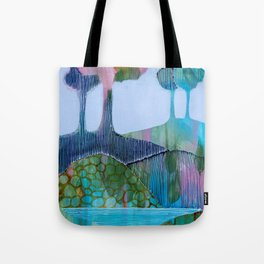 Day 13 In The Woods, Contemporary Abstract Landscape Tote Bag
