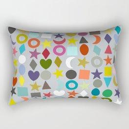 geo garland silver Rectangular Pillow