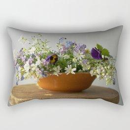 Spring floral composition - floral photography Rectangular Pillow