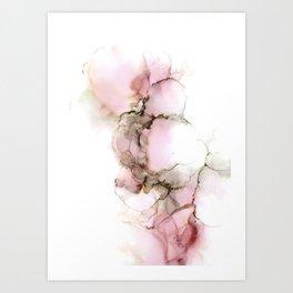 Pink bubbles I Art Print