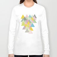 french Long Sleeve T-shirts featuring French Alps by Cassia Beck