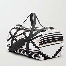 Modern Mexican Serape in Tan Duffle Bag