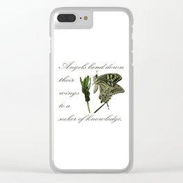 Angels Bend Down Their Wings To A Seeker Of Knowledge Clear iPhone Case