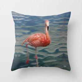 Flamingo Love Throw Pillow