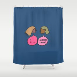 expressing Shower Curtain