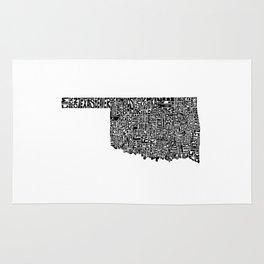 Typographic Oklahoma Rug