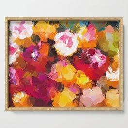 Delicious Floral Serving Tray