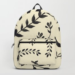 Black Leaves Pattern #2 #drawing #decor #art #society6 Backpack