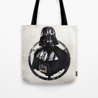 darth vader Tote Bags featuring Darth Vader by Yvan Quinet