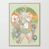blush Canvas Prints featuring blush by Cassidy Rae Marietta