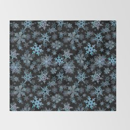 """Embroidered"" Snowflakes Throw Blanket"
