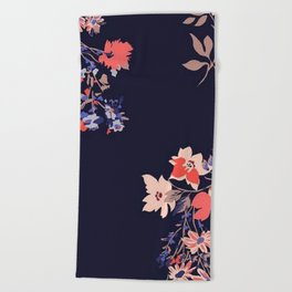 Colorful Night Roses Beach Towel