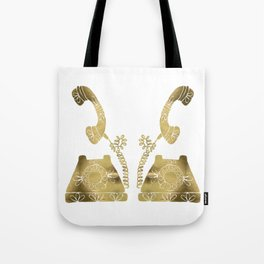 Vintage Rotary Phone – Gold Palette Tote Bag