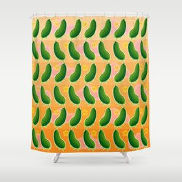 The Mighty Pickle Shower Curtain