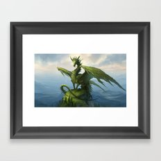 Green Dragon v2 Framed Art Print