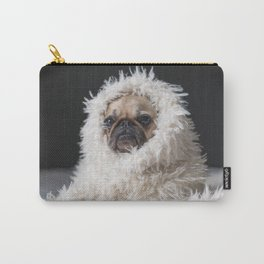 Dog with blanket Carry-All Pouch