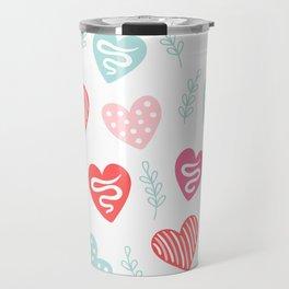Love and hearts Travel Mug