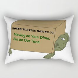 Boxed Turtles Moving Co. Rectangular Pillow