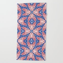 Sphynx Cat - Rose Quartz and Serenity version Beach Towel