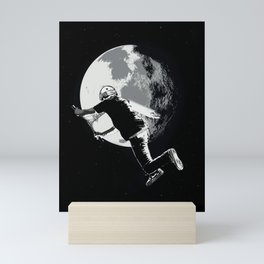 Tailing the Moon - Tail-whip Scooter Stunt Mini Art Print