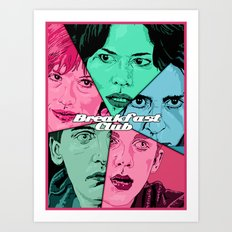 Breakfast Club Colors Art Print
