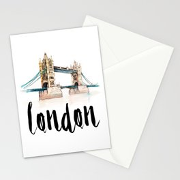 London watercolor Stationery Cards