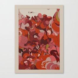 Organic Infographics - Lava Canvas Print