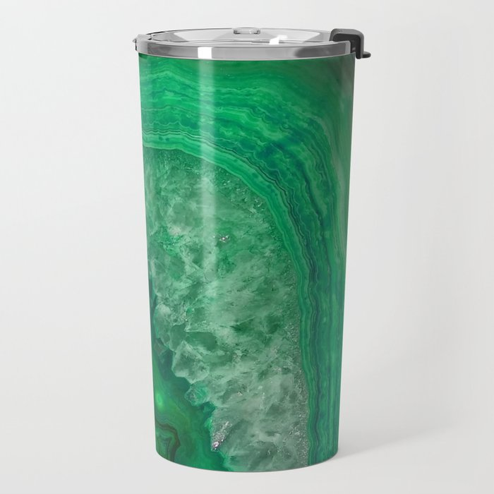 Green Emerald Agate Travel Mug