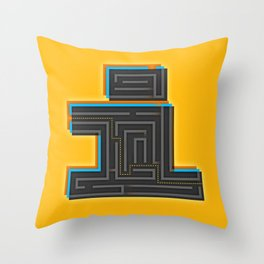 I for Itinerary Throw Pillow